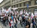 Tuchola na manifesjatsji Solidarności 14.09.2013 w W-wie 2 na trasie