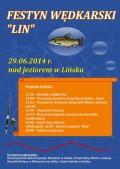Festyn Wedkarski Lińsk 29.06.2014 plakat