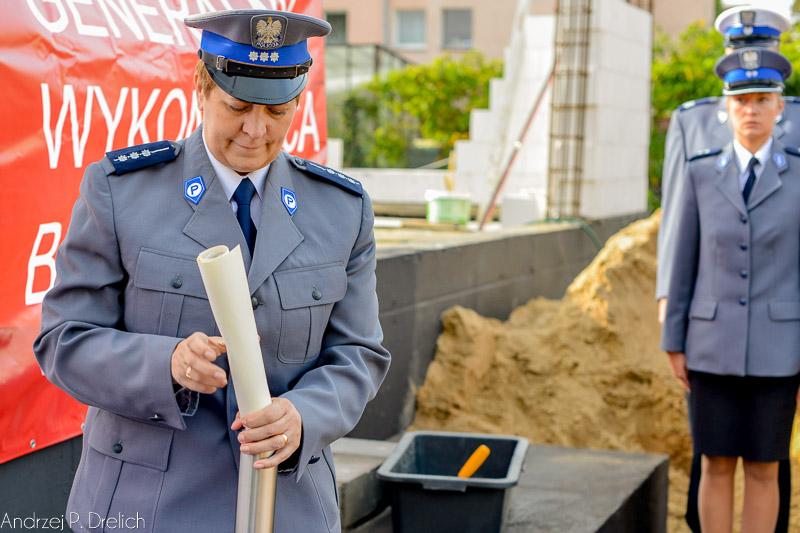 Wmurowanie aktu erekcyjnego pod nowy budynek KPP Tuchola 24.09.2014-7