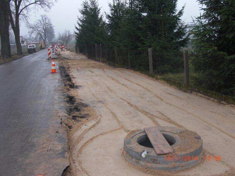 budowaścieżki rowerowej Gostycyn - Piła 19.11.2014