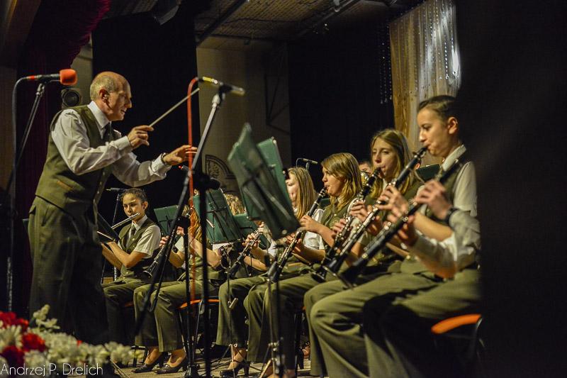 Koncert Reprezentacyjna Orkiestra Lasów Państwowych przy Technikum Leśnym w Tucholi 95 rocznica wyzwolenia Tucholi TOK 29.01.2015-2