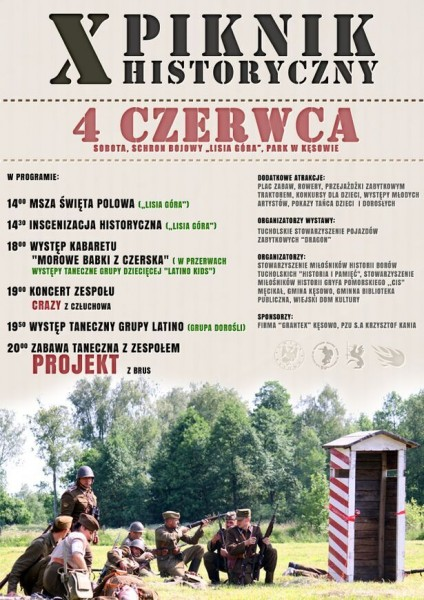 X Piknik Historyczny Kęsowo 4.06.2016 plakat